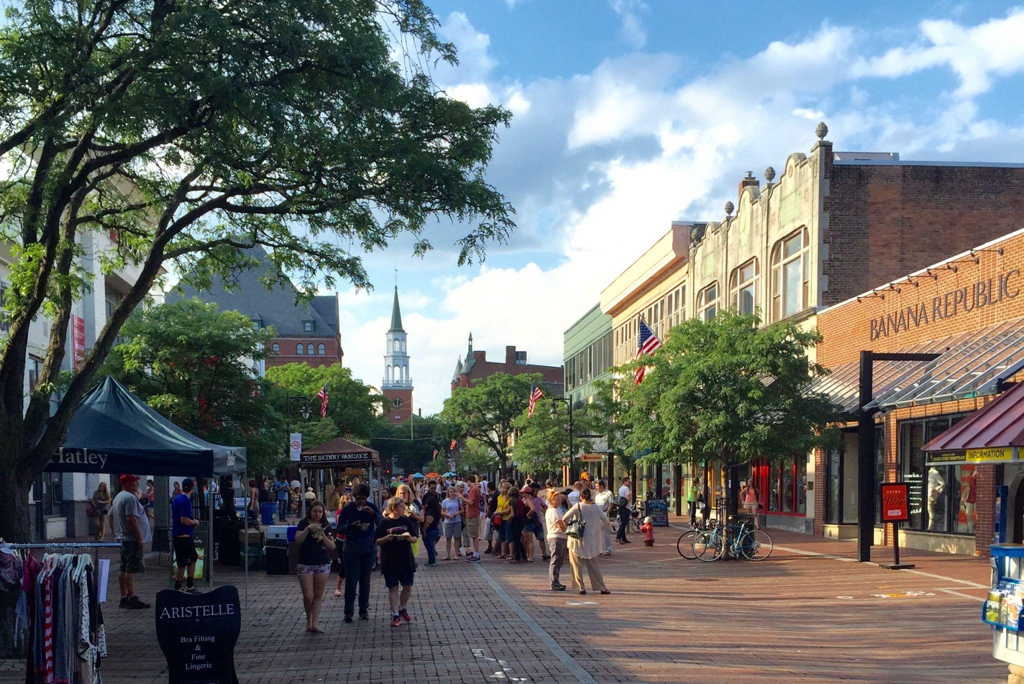Centre-ville de Burlington au Vermont