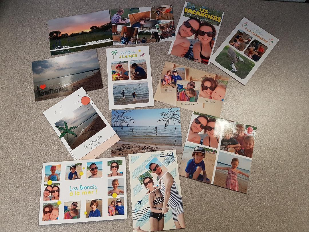Envoyez vos meilleurs moments de vacances par carte postale!