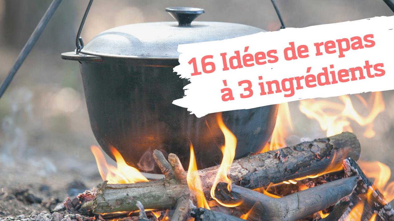 16 idées de repas à 3 ingrédients